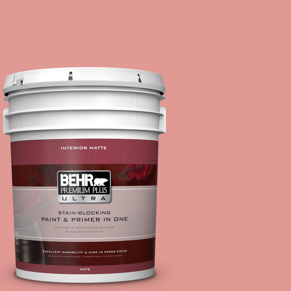 5 gal. #160D-4 Strawberry Rose Flat/Matte Interior Paint