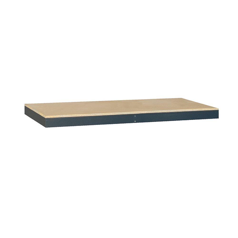 Salsbury Industries 72 in. W x 24 in. D Wood Additional Shelf for Bulk Storage Racks in Tan
