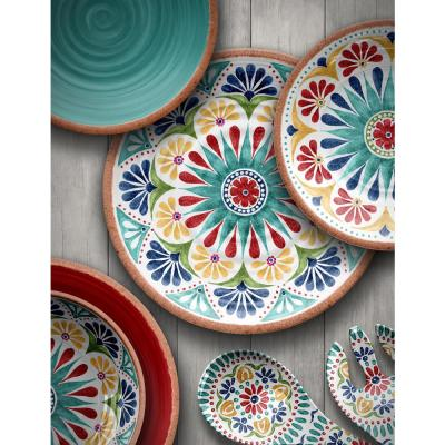 Rio Medallion Melamine Dinner Plate (Set of 6)