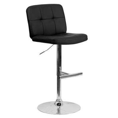 25 in. to 34 in. H Black Bar Stool