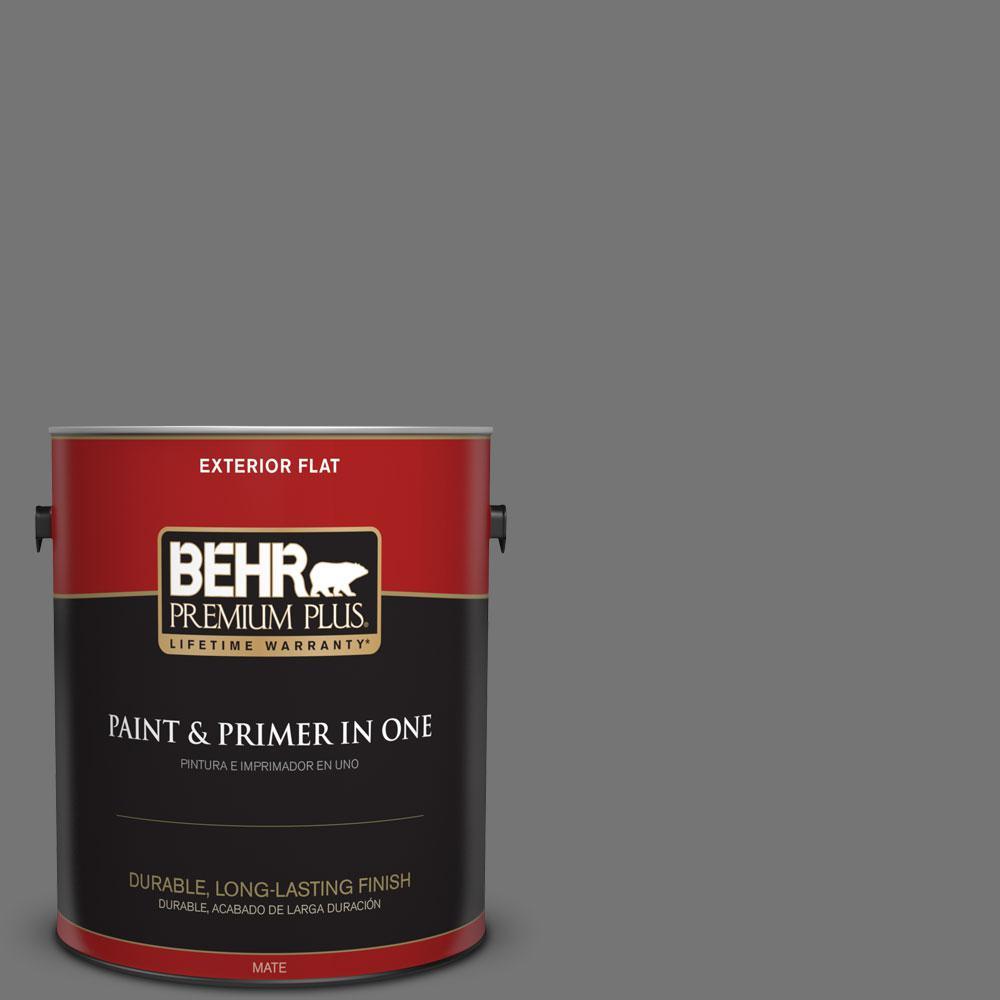 BEHR Premium Plus 1-gal. #N520-5 Iron Mountain Flat Exterior Paint