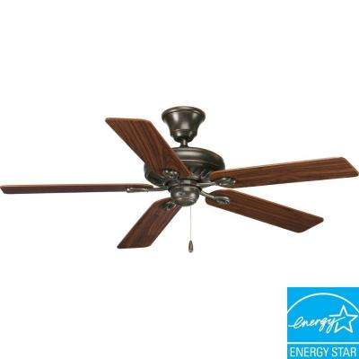 Indoor antique bronze ceiling fan