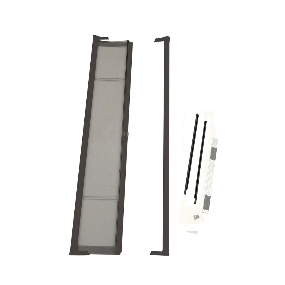 ODL 36 in. x 80 in. Brisa Bronze Standard Retractable Screen Door ...