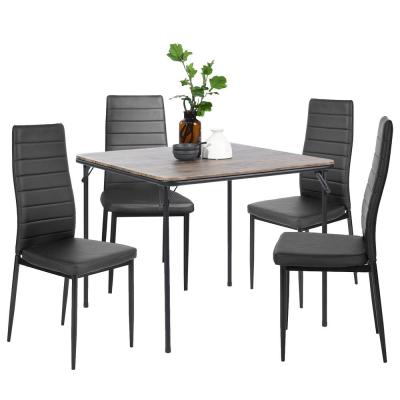Ann Black High Backrest Upholstered Dining Chairs (Set of 4)