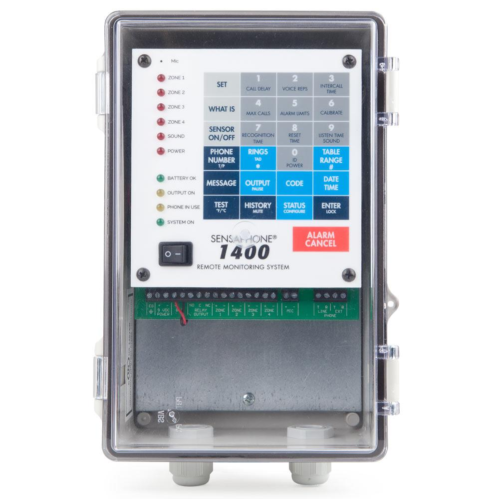 1400 Series 4 Channel Remote Monitoring System with Clear Door