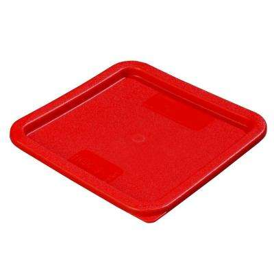 Fits all 6 and 8 qt. Polyethylene Containers in Red Lid to Fit StorPlus Square Food Storage Containers (Case of 6)