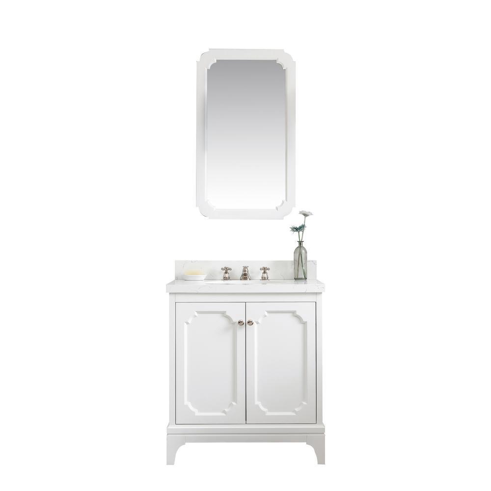 Queen 30 In Bath Vanity Pure White