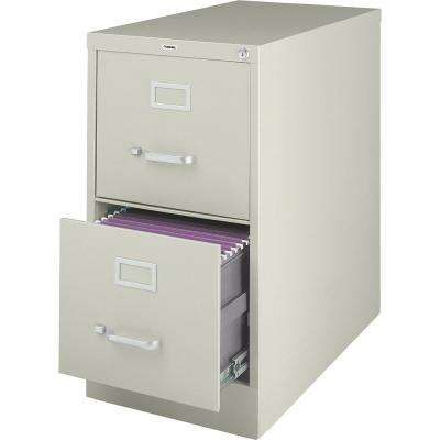2-Drawer Putty Vertical file with Security Lock