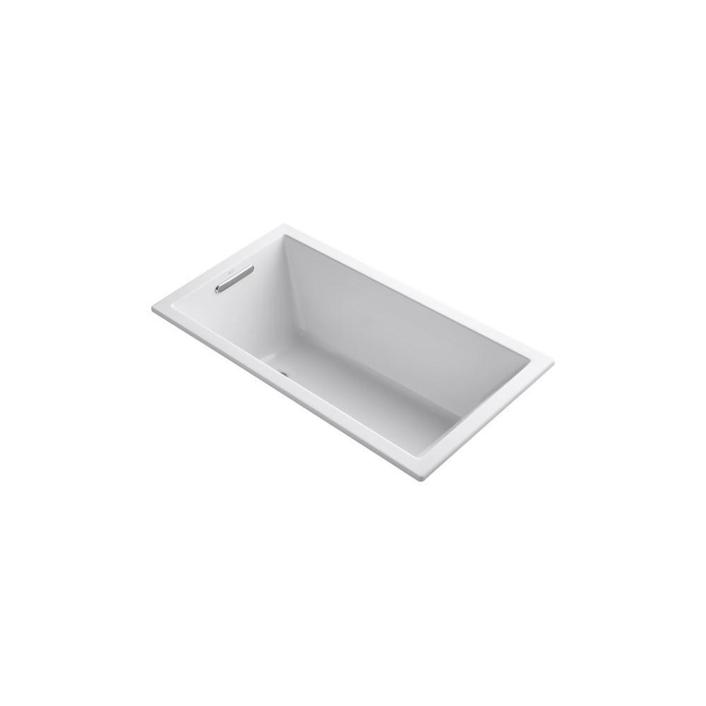 KOHLER Underscore 5 ft. Reversible Drain Bathtub in White