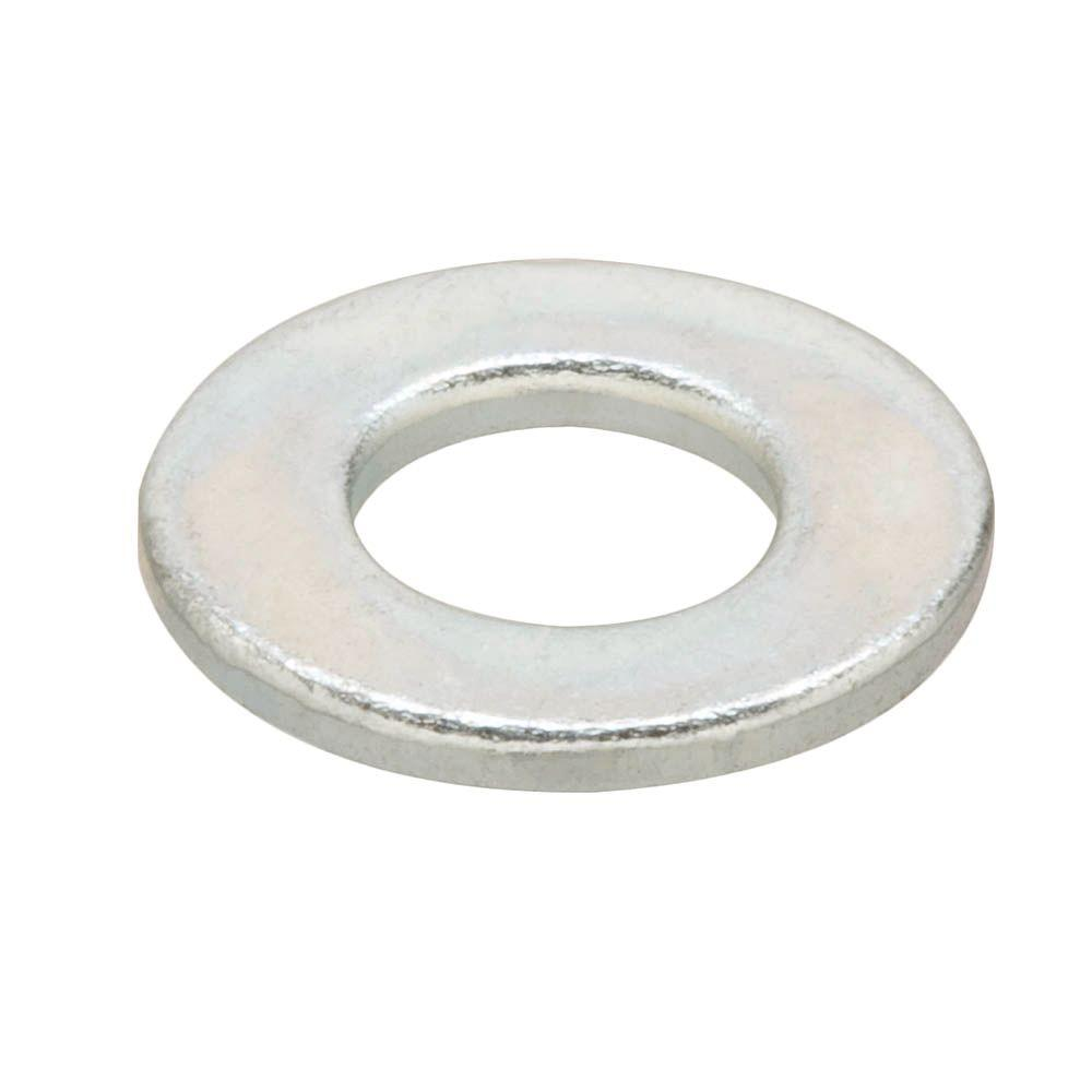 5/16 in. Yellow Zinc-Plated Grade-8 Flat Washer (4-Pack)