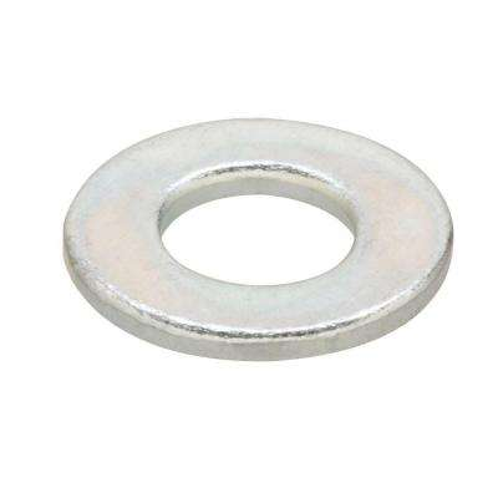 M4 Zinc-Plated Flat Washers (4-Pack)