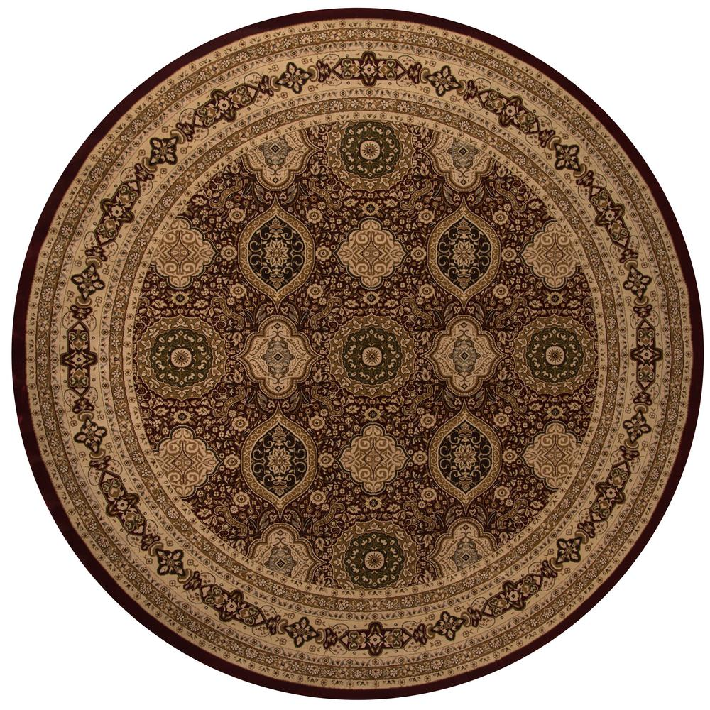 Momeni Lovely Red 7 ft. 10 in. x 7 ft. 10 in. Round Area Rug