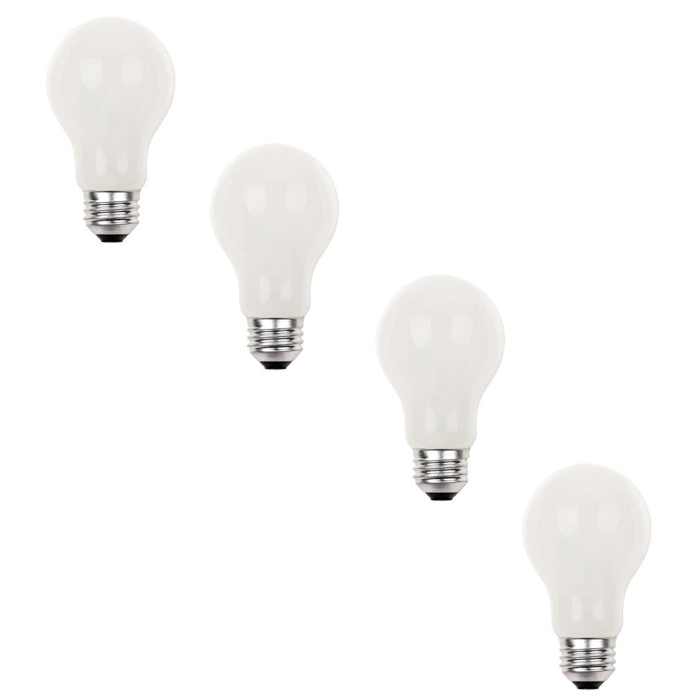 Westinghouse 53-Watt Eco-Halogen A19 Soft White Medium Base Light Bulb (4-Pack)