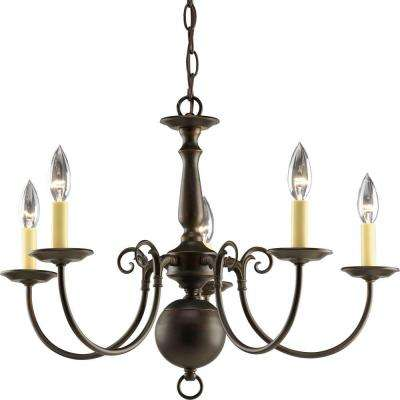 Americana Collection 5-Light Antique Bronze Chandelier