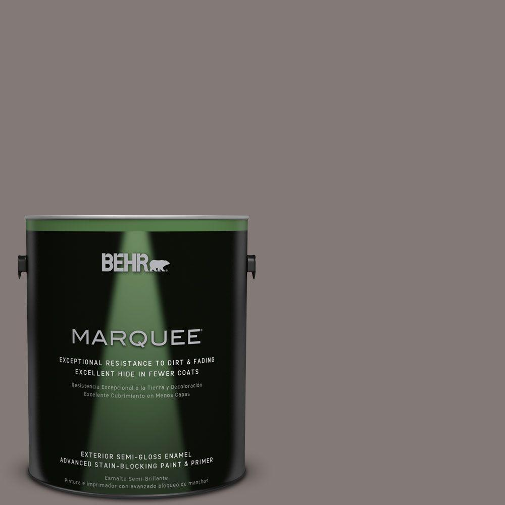 Behr Marquee 1 Gal N140 5 Complex Gray Semi Gloss Enamel Exterior Paint 545401 The Home Depot
