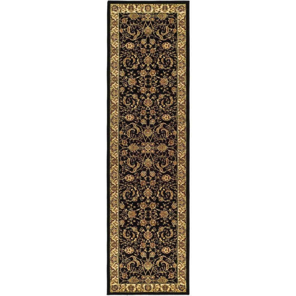 Lyndhurst Black/Ivory 2 ft. x 10 ft. Runner Rug
