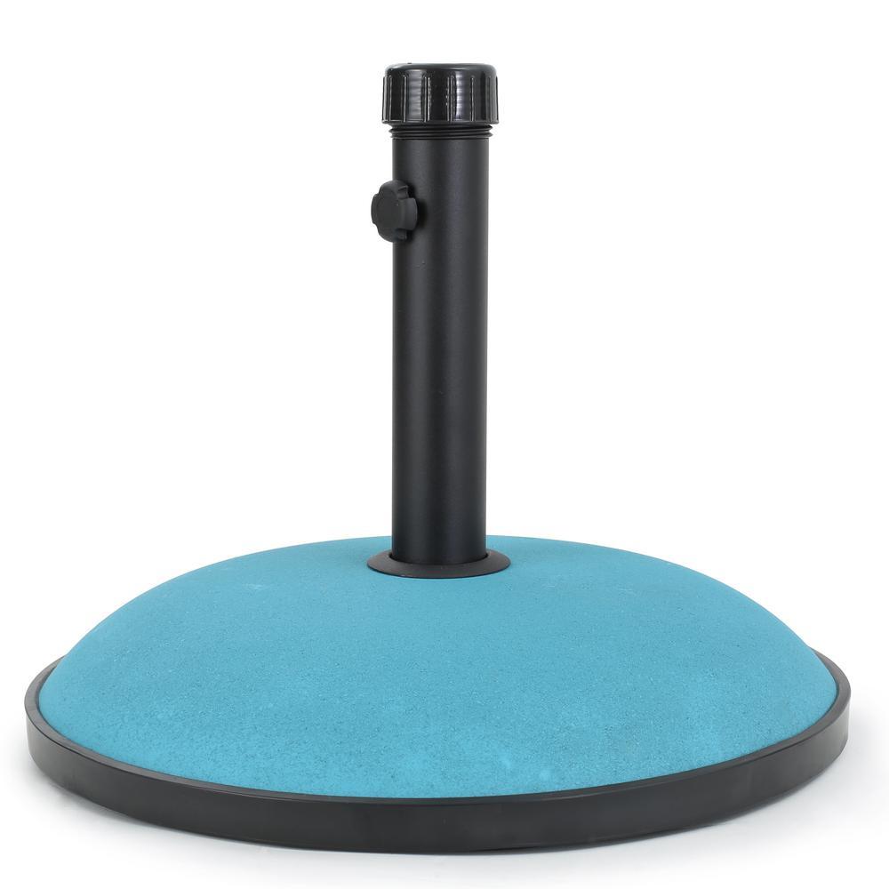 Edgar 66 lbs. Concrete Patio Umbrella Base in Teal