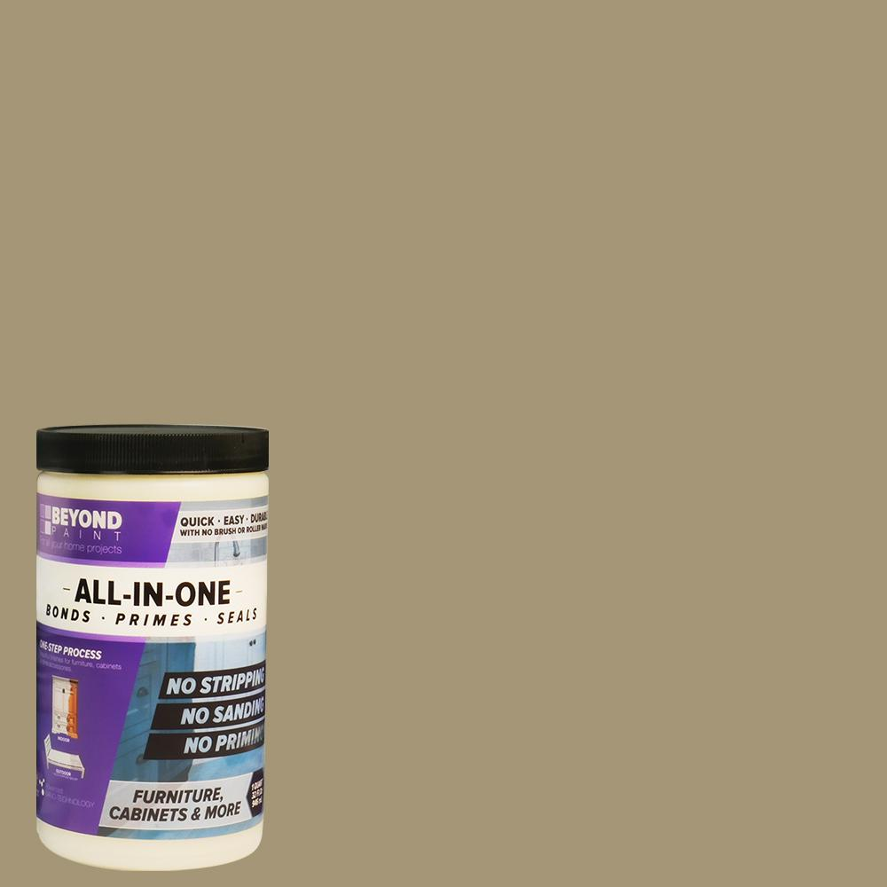 BeyondPaint Beyond Paint 1 qt. Linen Furniture, Cabinets, Countertops and More Multi-Surface All-in-One Interior/Exterior Refinishing Paint