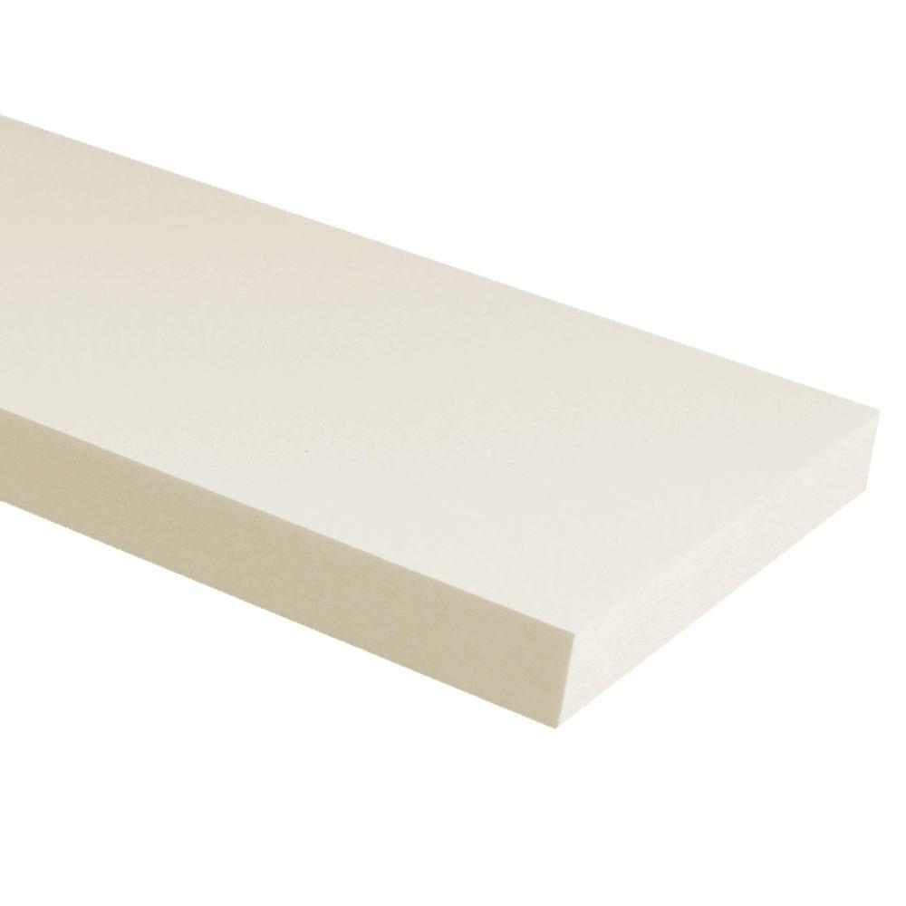 3/4 in. x 5-1/2 in. x 12 ft. White PVC Trim