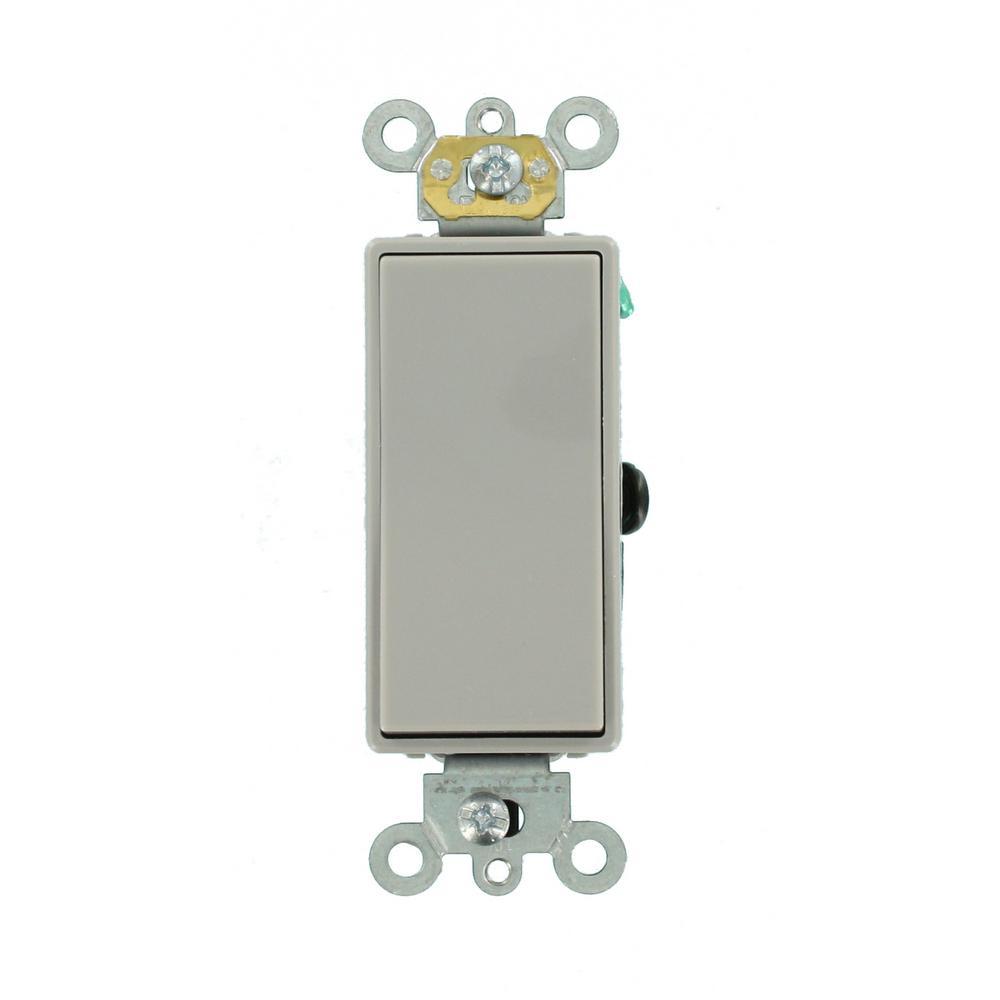 Cooper 7504GY 15 Amp 4-Way Rocker Decorator Switch Gray EATON 7504GY-BOX
