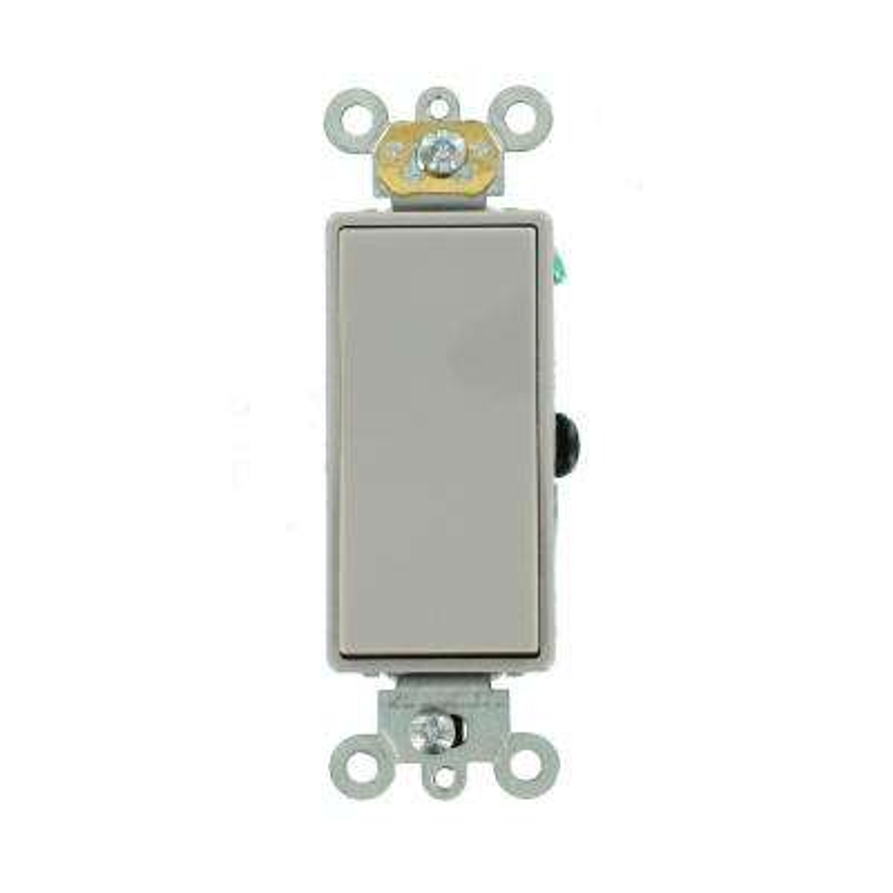 15 Amp Decora Plus Commercial Grade 3-Way Rocker Switch, Gray