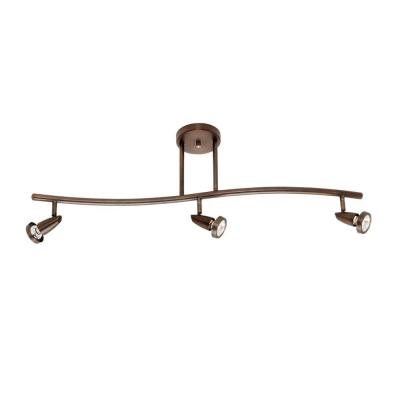 Mirage 3-Light Bronze Bar Pendant