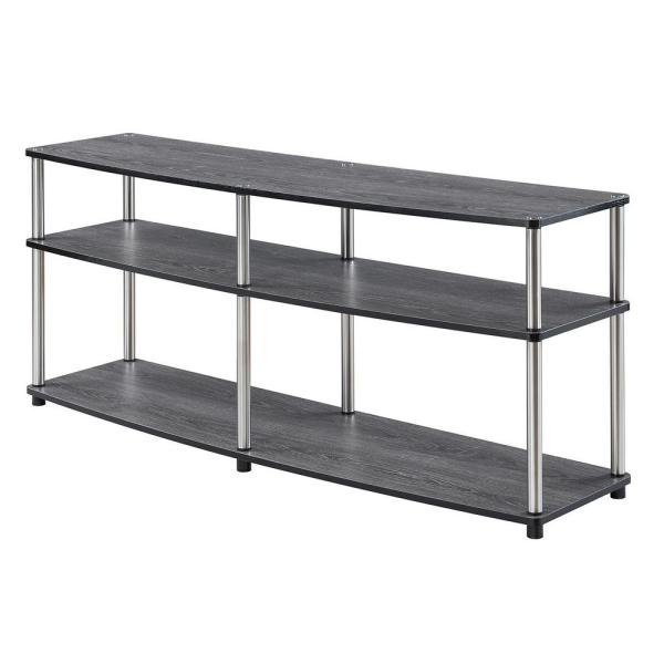 Designs2Go Weathered Gray 3 Tier 60 in. TV Stand