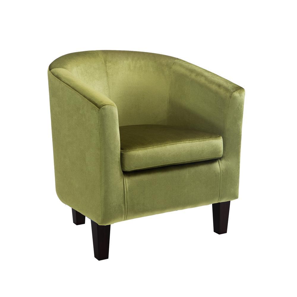 Antonio Green Velvet Tub Chair