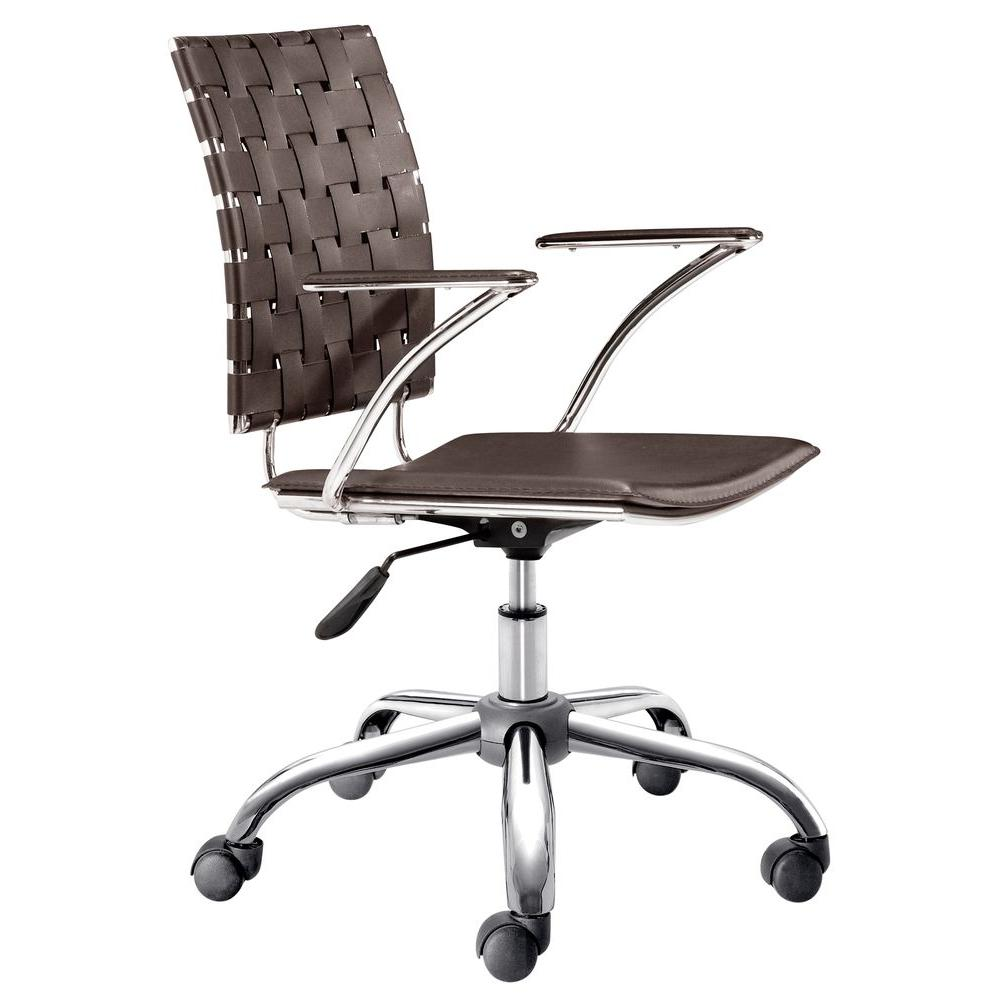 ZUO Criss Cross Espresso Office Chair