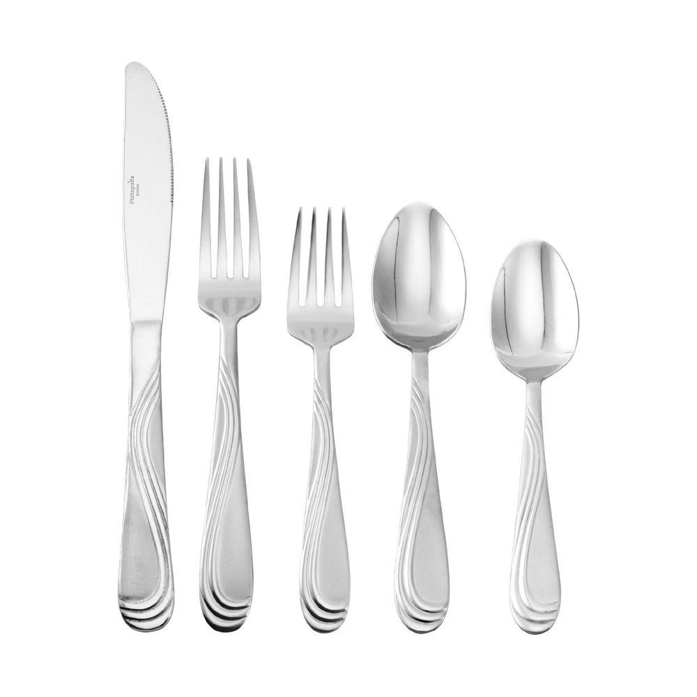 null International Flatware Pacifica Frost 20-Piece Set