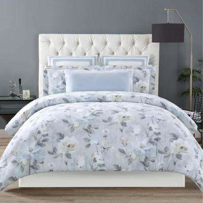 Soft Floral King Comforter with 2-Shams