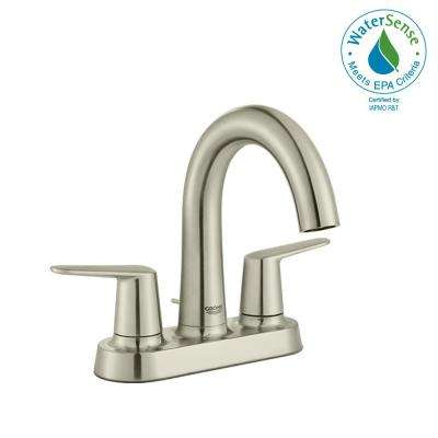 Veletto 4 in. Centerset Two-Handle High-Spout Bathroom Faucet in Brushed Nickel