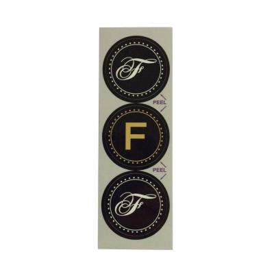 F Monogram Decorative Bathroom Sink Stopper Laminates (Set of 3)