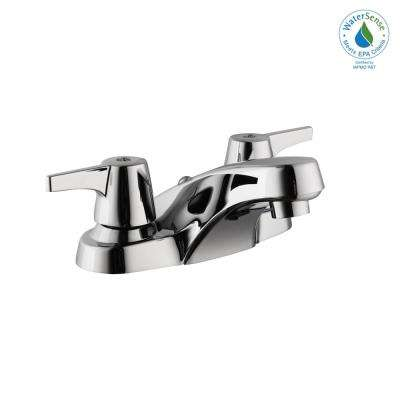 Aragon 4 in. Centerset 2-Handle Low-Arc Bathroom Faucet without Pop-Up Drain in Chrome
