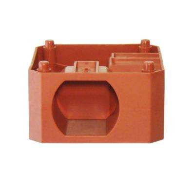 9.77 in. W x 9.77 in. D x 4.78 in. H Terra Cotta 90 Degree Block (1 peice)