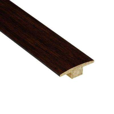 Strand Woven Walnut 7/16 in. Thick x 2 in. Wide x 78 in. Length Bamboo T-Molding
