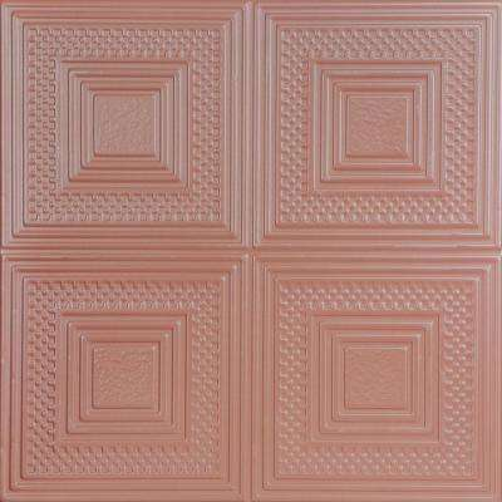 Nested Squares 1.6 ft. x 1.6 ft. Foam Glue-up Ceiling Tile in Tea Room