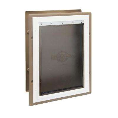 10.375 in. x 15.375 in. Large Wall Entry Aluminum Pet Door