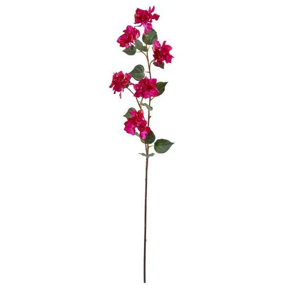 Nearly Natural 47 In Bougainvillea Artificial Flower Set Of 4 2273 S4 Or The Home Depot