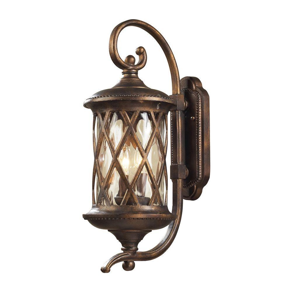 Barrington Gate 2-Light Outdoor Hazelnut Bronze Sconce