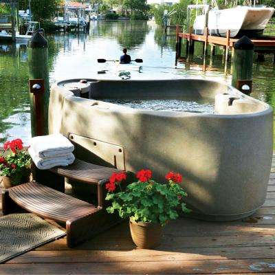 Premium 300 2-Person Plug and Play Hot Tub with 20 Stainless Jets, Heater, Ozone and LED Waterfall in Cobblestone