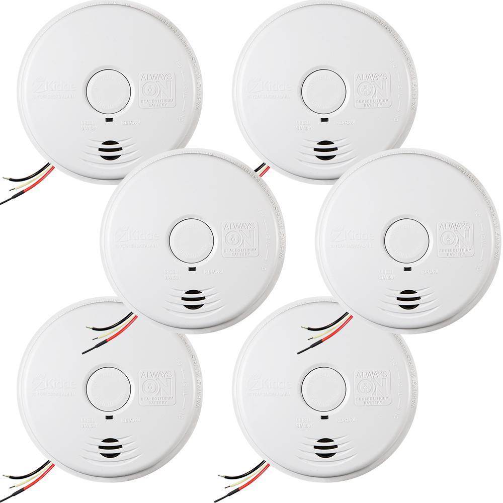 Kidde 10-Year Worry Free Hardwire Smoke Detector with Battery Backup (6-Pack)