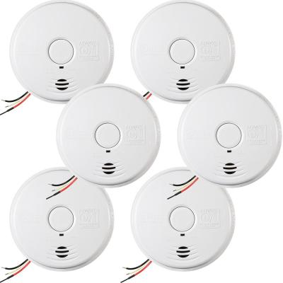 10-Year Worry Free Hardwire Smoke Detector with Battery Backup (6-Pack)