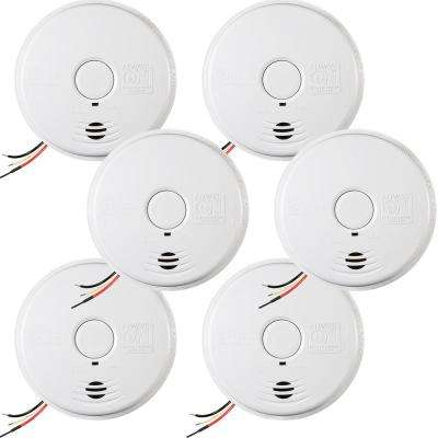 Worry Free Hardwire Smoke Detector with 10-Year Battery Backup (6-pack)