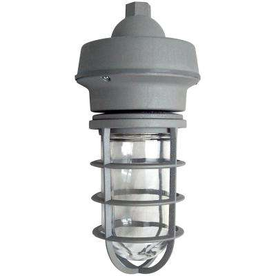10-Watt Gray Integrated LED Hanging Pendant Mount Vapor Tight Fixture