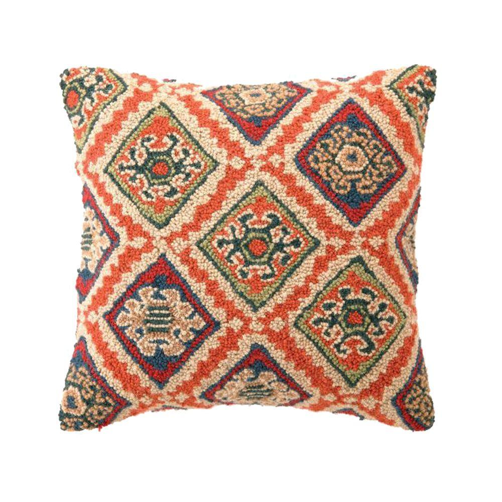 Home Decorators Collection 18 in. W Kilim Tahoe Hook Pillow