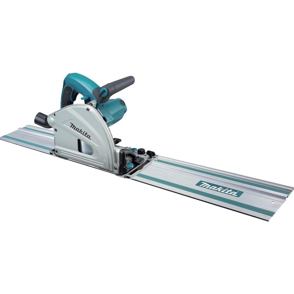 Makita 12-Amp 6-1/2 in. Plunge Circular Saw with 55 in. Guide Rail and Case