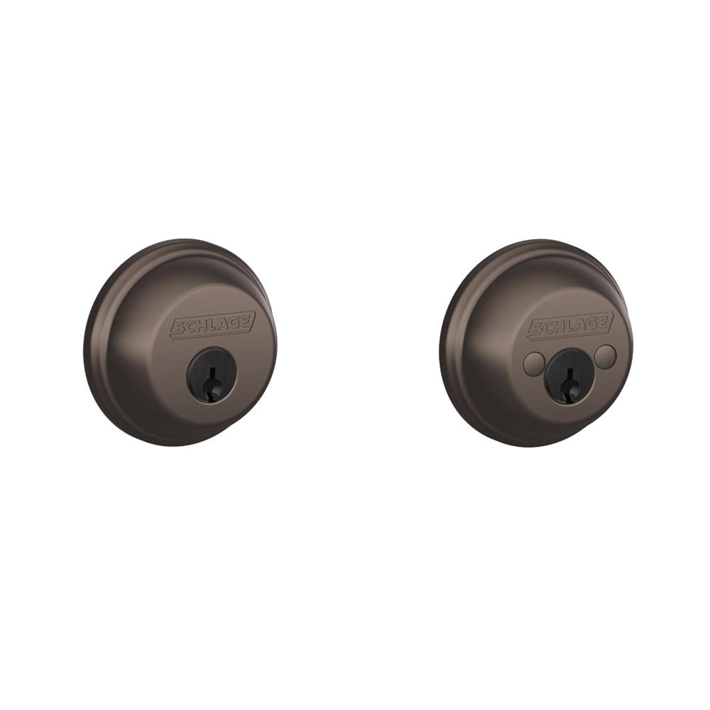 Schlage Oil Rubbed Bronze Double Cylinder Deadbolt