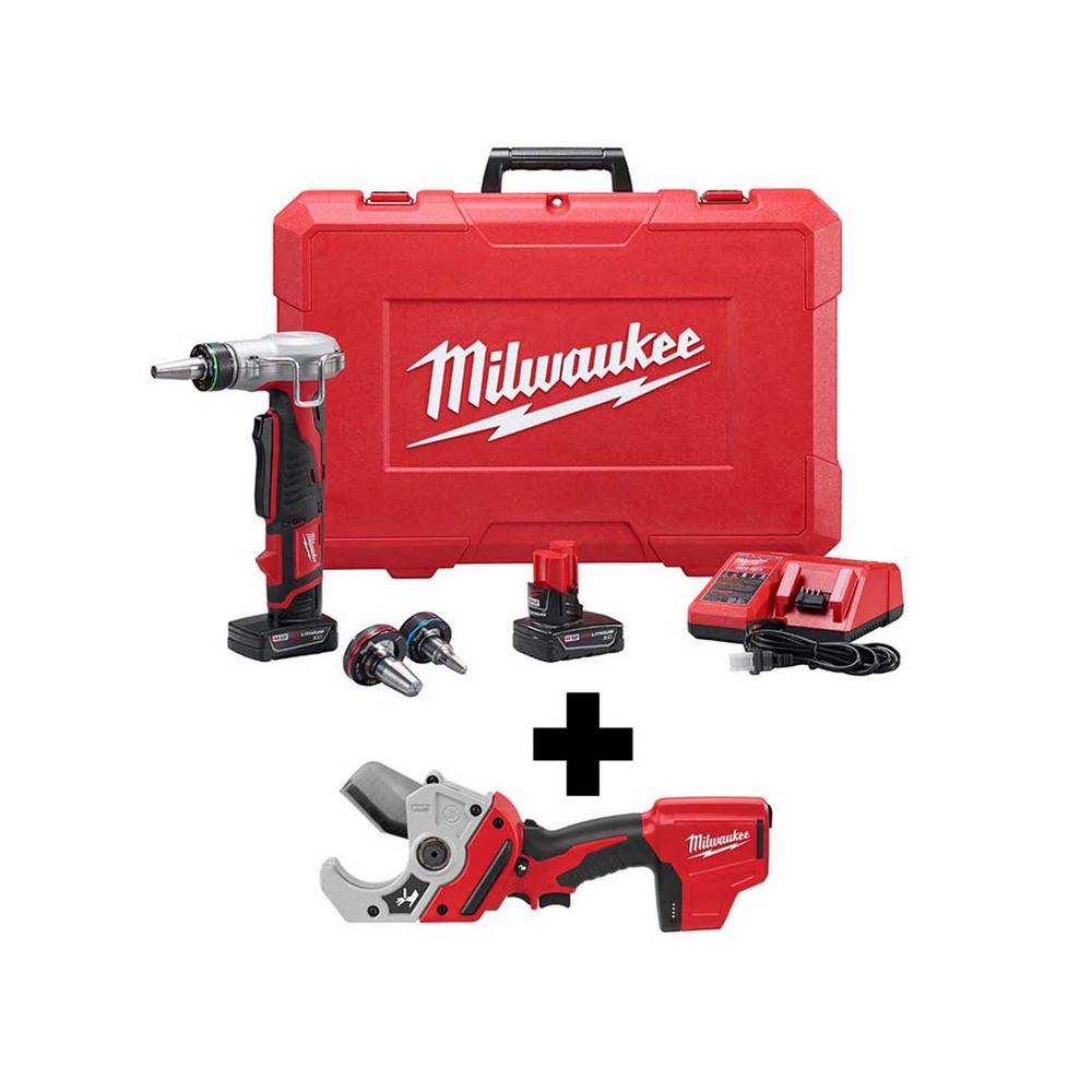 Milwaukee M12 12-Volt Lithium-Ion Cordless ProPEX Expansion Tool Kit with Free M12 PVC Shear was $628.0 now $431.1 (31.0% off)