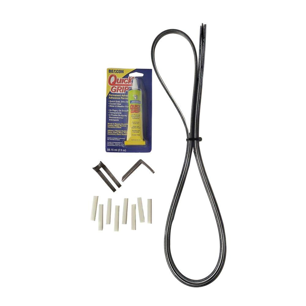 Slide-Ezzz Sliding Glass Patio Door Repair Kit in Black-1008-B - The ...